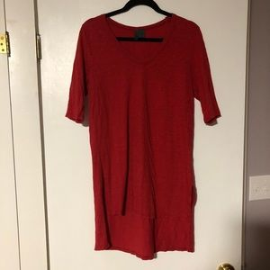 Anthropologie Left of Center Red Tunic